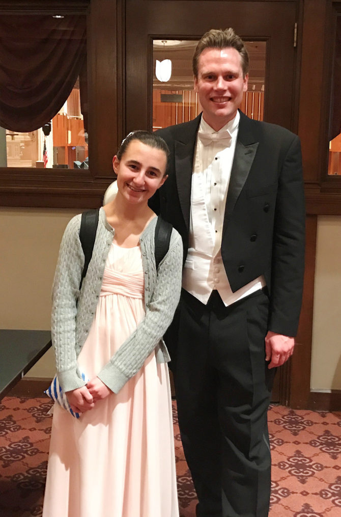Maude Wins First Place in Orchestra Competition