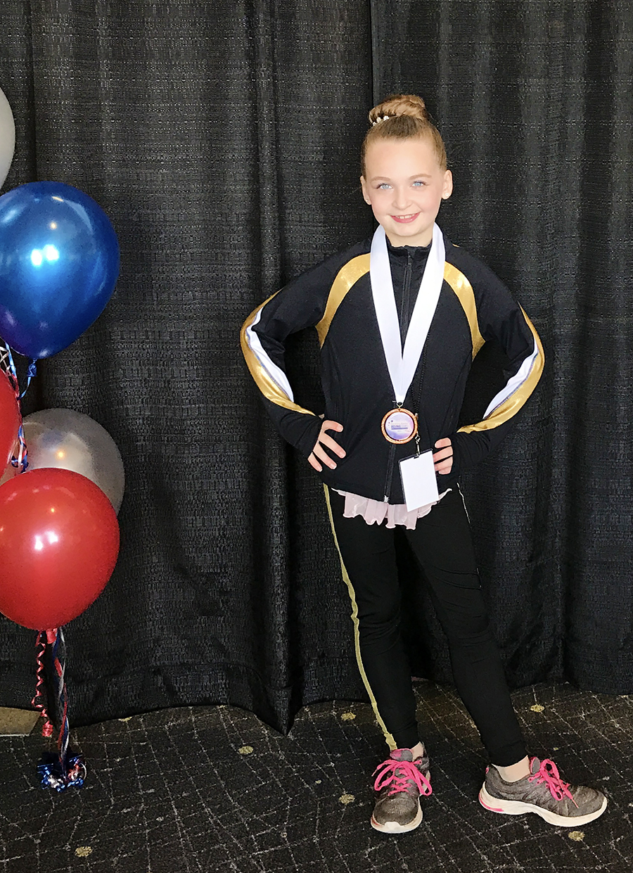 Keara Places 5th in Ice Skating