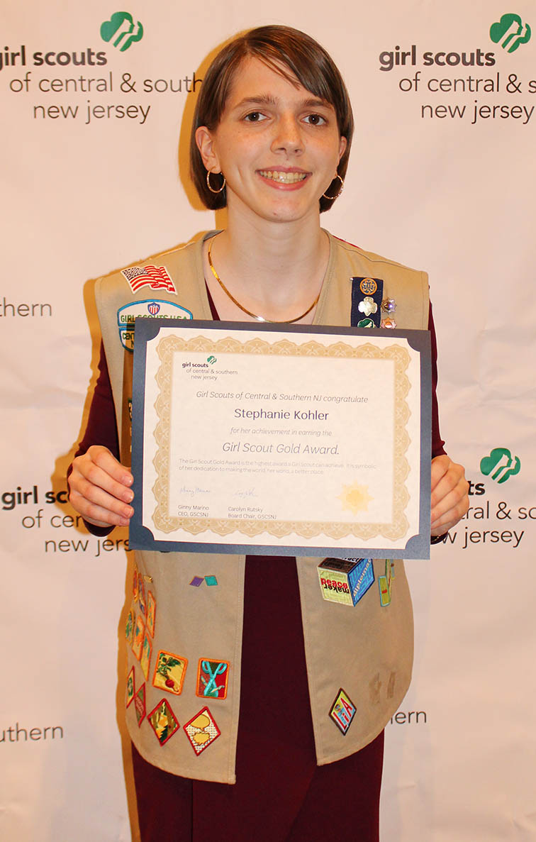 Stephanie is given Gold Award