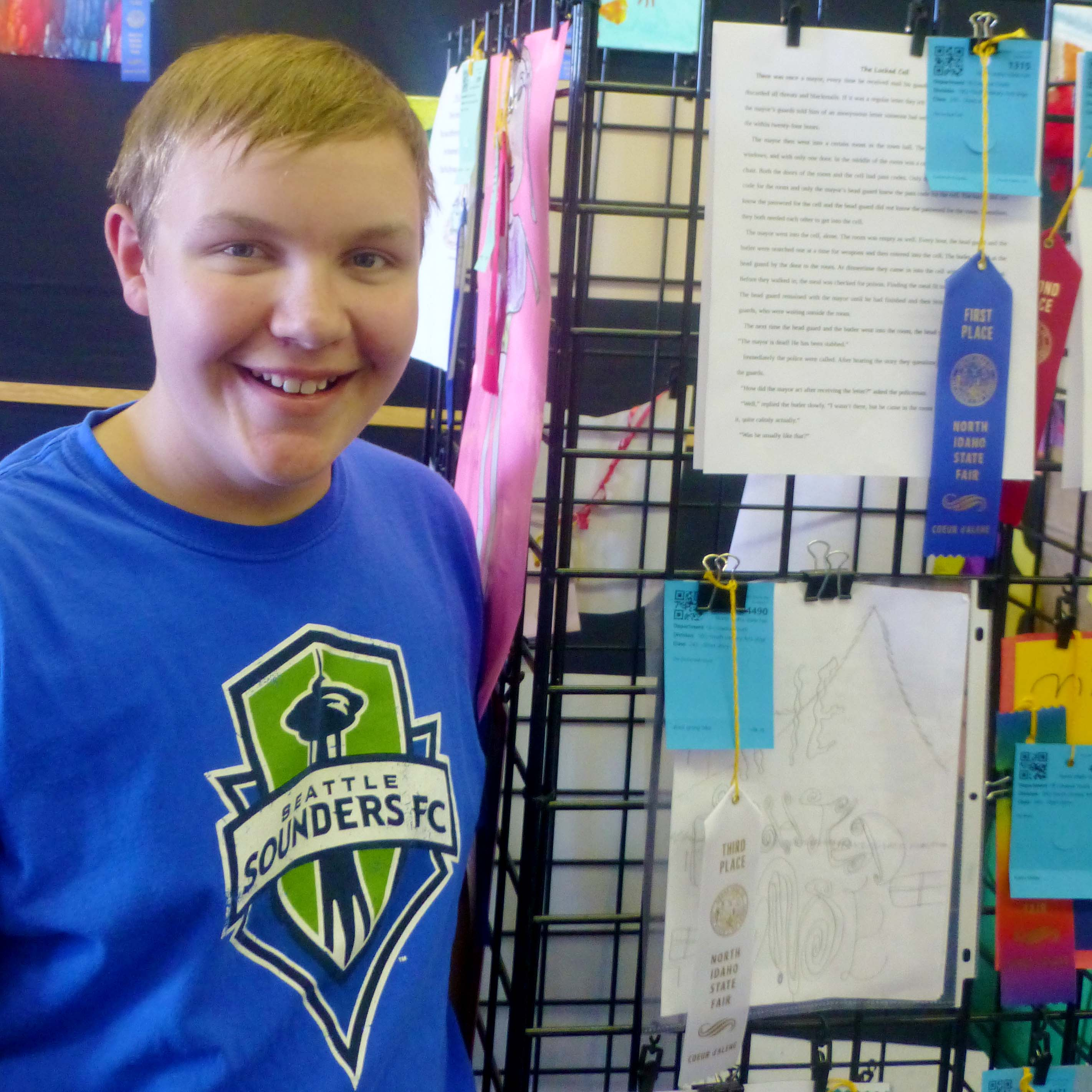 Gabriel Wins First Prize in Literary Art Contest