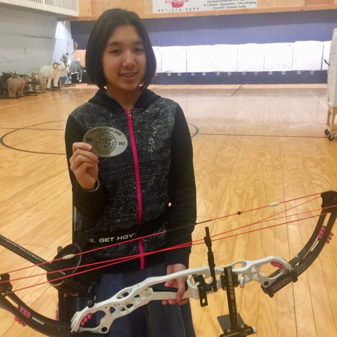 Kira Named Shooter of the Year by Alaska State Archery Assoc.