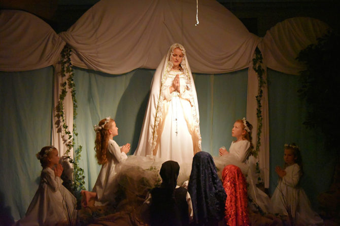 Mary Portrays Our Lady of Fatima in Diocesan Play