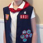Bridget Earns American Heritage Girl Badges