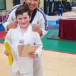Cash Earns Taekwondo Yellow Belt