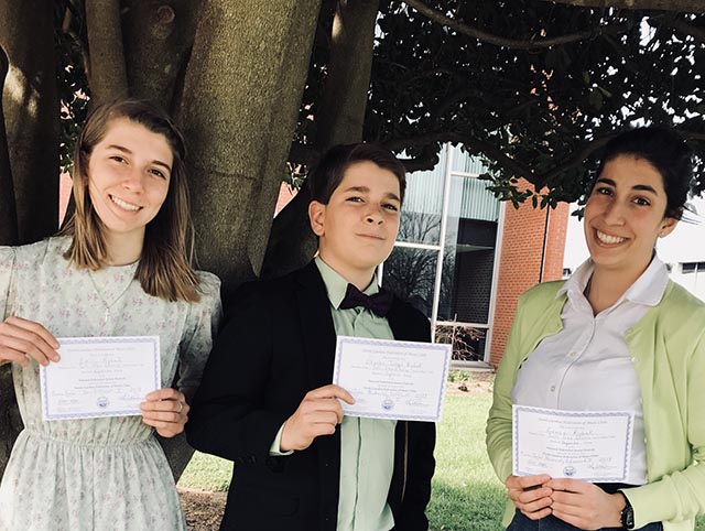 Emily, Charles, and Grace Win Piano Competition