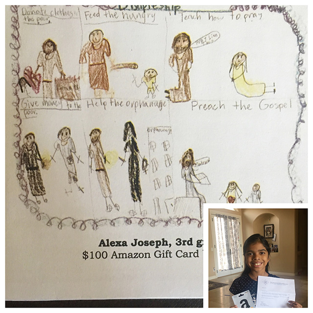 Alexa's Art of St. Clare Wins 1st Place in Contest