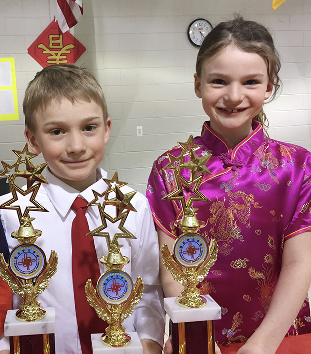 Alexandra and Richard Win Chinese Speaking Awards