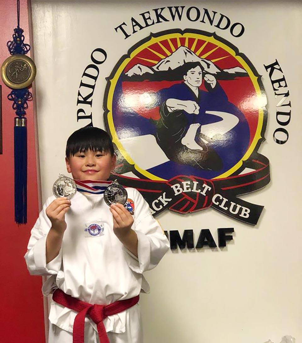 Jameson 2nd in Sparring – Seeks Taekwondo Gold