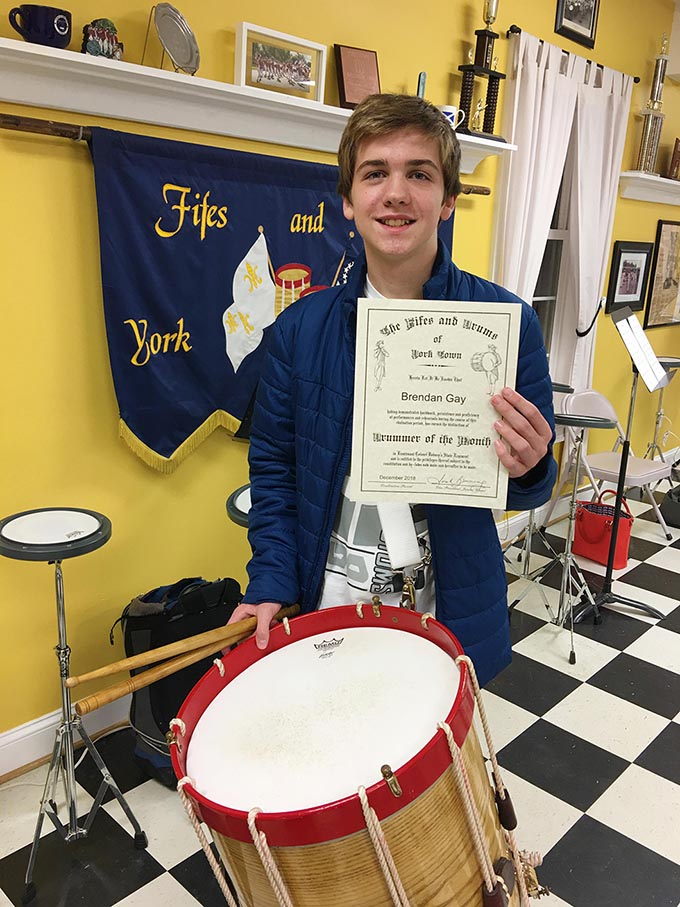Brendan: Fifes and Drums' Drummer of the Month