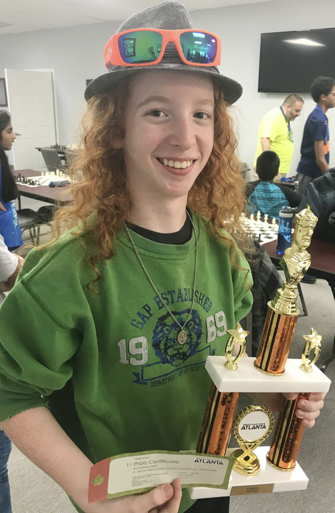 Ian Brings Home 1st Place in Chess Club Tournament