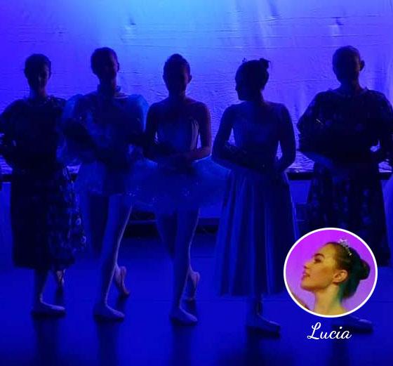 Lucia as Cinderella in Her Dance School Ballet