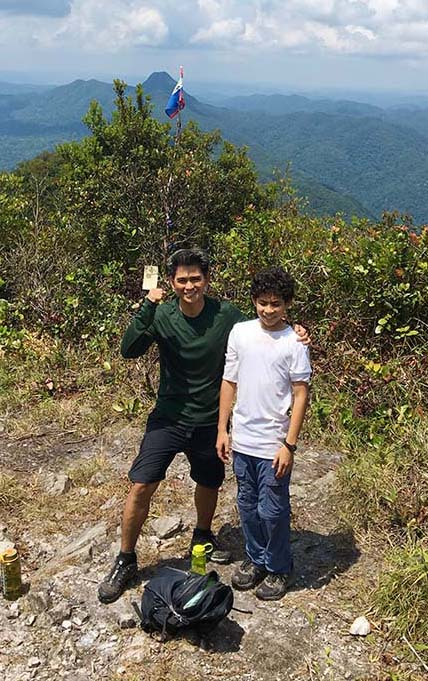 Diego Among Youngest to Scale Victoria Peak in Belize