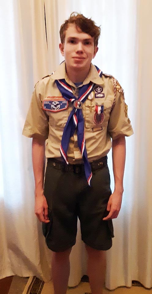 Sam Makes Eagle Scout and Earns Ad Altare Dei Medal