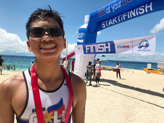 Akio is Champion Triathlete in Crimzone Aquathlon Cup