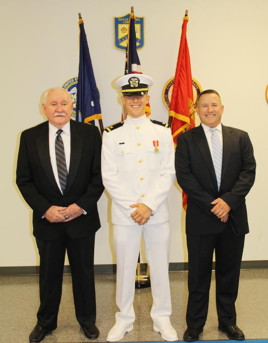 Sean Graduates from Navy Officer School