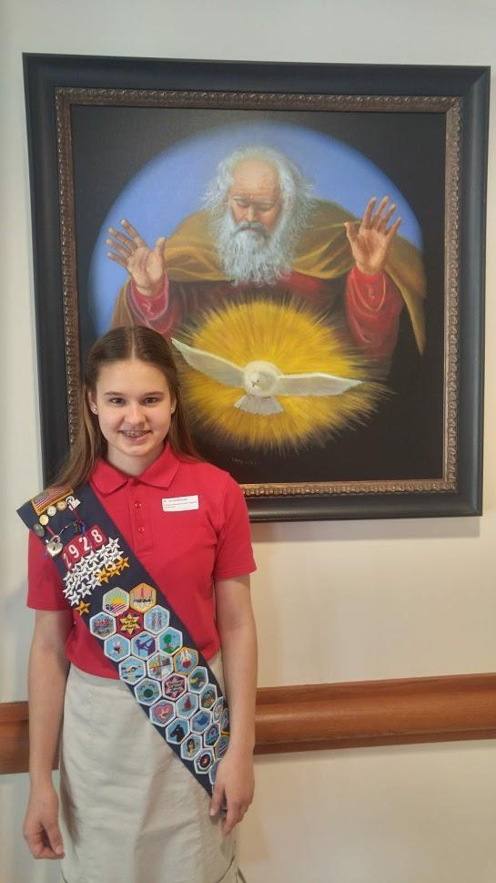 Zoe Earns Religious Award, Cantors at Ceremony Mass