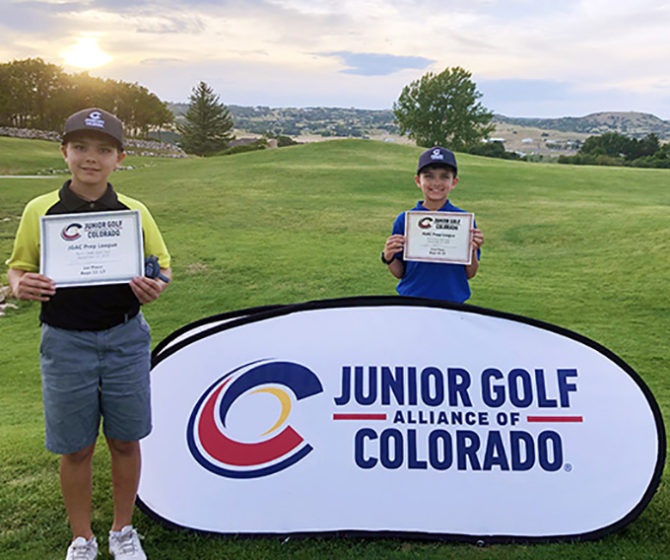 Jack and Ian Win 1st & 2nd Place in Golf Tournament