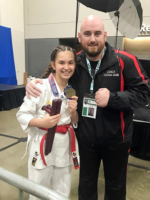 Mina Wins Gold Medal in National Karate Competition