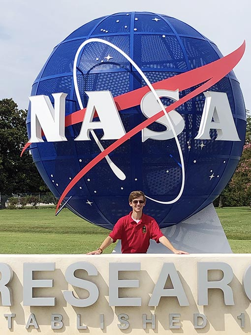 Zachary Invited to Attend NASA's Summer Program