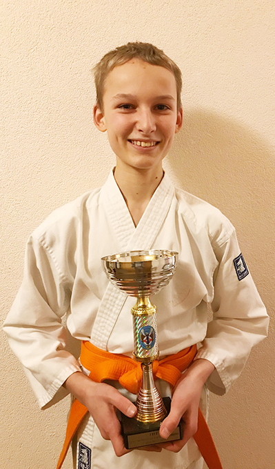 Mike is First in Kumite at Dutch Championship