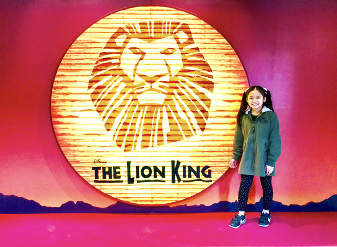 Claire is Young Nala in Lion King Tour