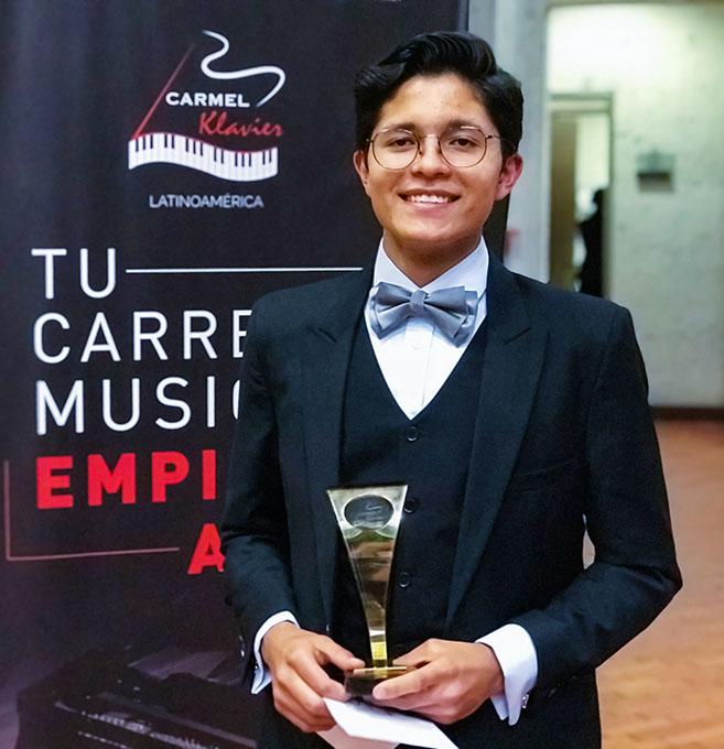 Pablo Places 2nd in Advanced Level Piano Solo