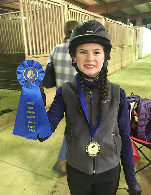 Grace Wins a First Place at Bluegrass Horse Show