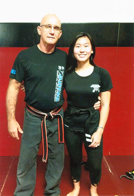 Samia Achieves Black Belt On to Christendom in Fall