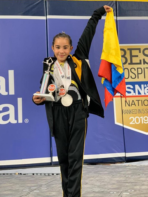 Gymnast Silvana Brings Home Gold, Silver, and Bronze