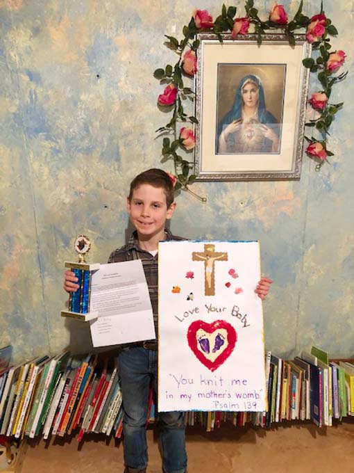 Benjamin's Right to Life Poster Wins First Place