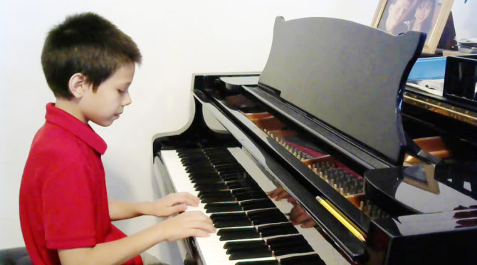 5th Grader Joshua Wins in Virtual Piano Contest