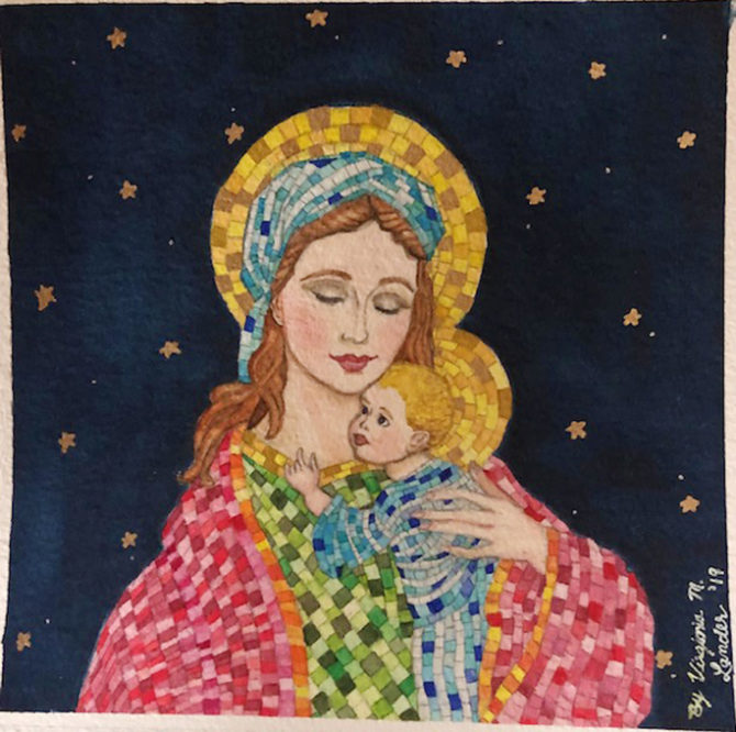 Virginia's Religious Art Graces Christmas Cards