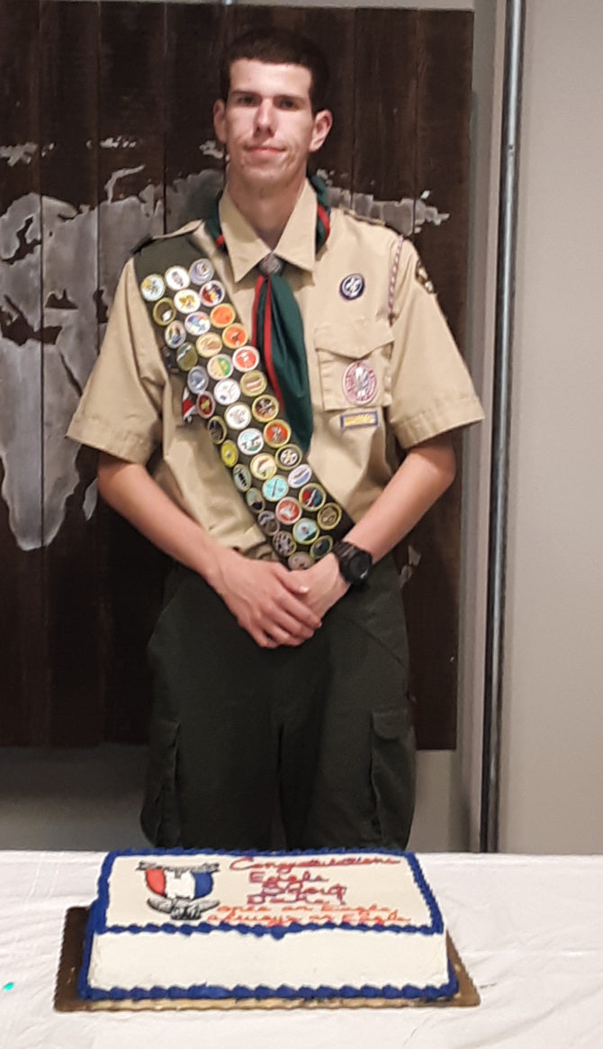 Jake Achieves the Rank of Eagle Scout