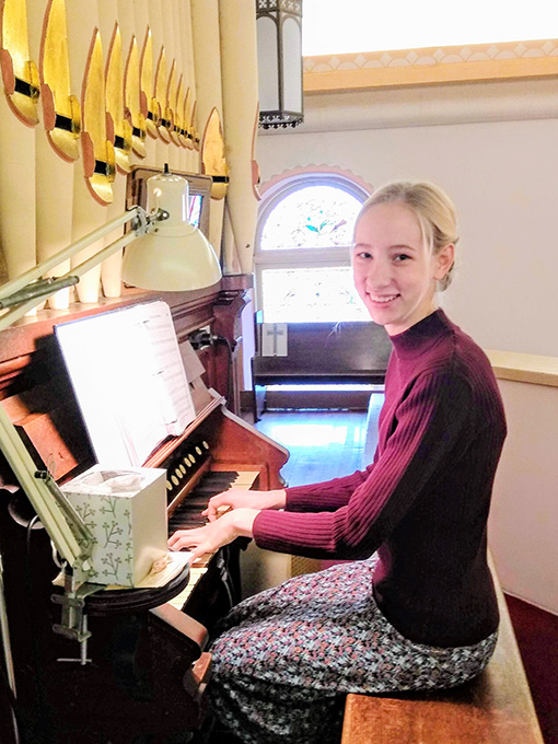 Homeschooling Lets Sarah Practice Her Piano Daily