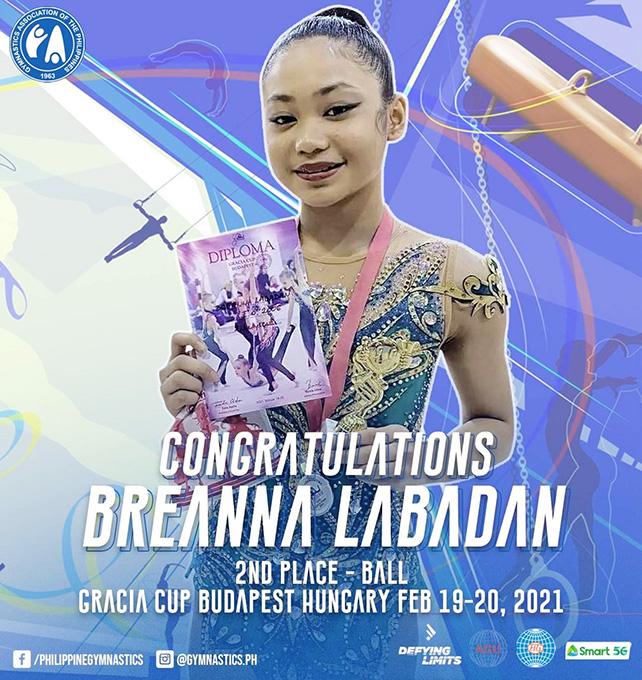 Rhythmic Gymnast Breanna Competes Internationally