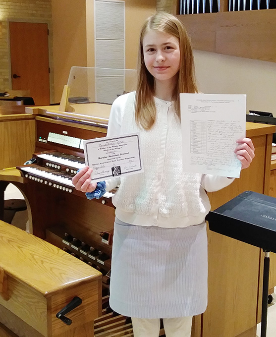 Musicians Guild Recognizes MaryKatharine's Performance