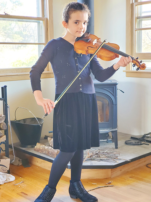 Given Time to Practice Rachele Joins Youth Orchestra