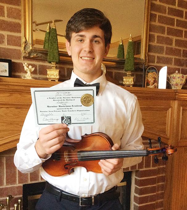 John Receives Superior Rating, Chosen for Recital