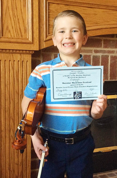Joseph Rated Superior on Violin at Music Festival