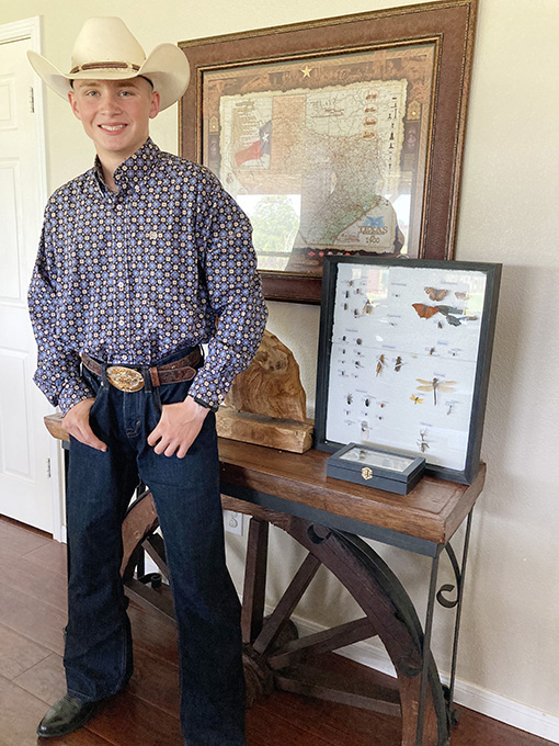 Briscoe Places 2nd in 4-H Insect Collection Contest