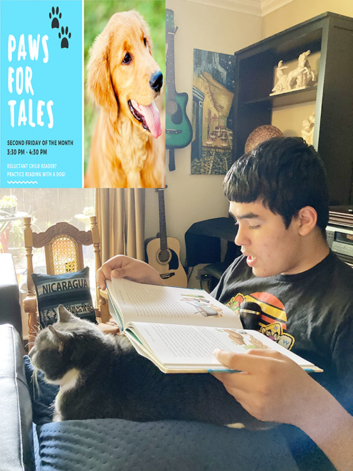 Paws for Tales Helps Domenic Practice Reading