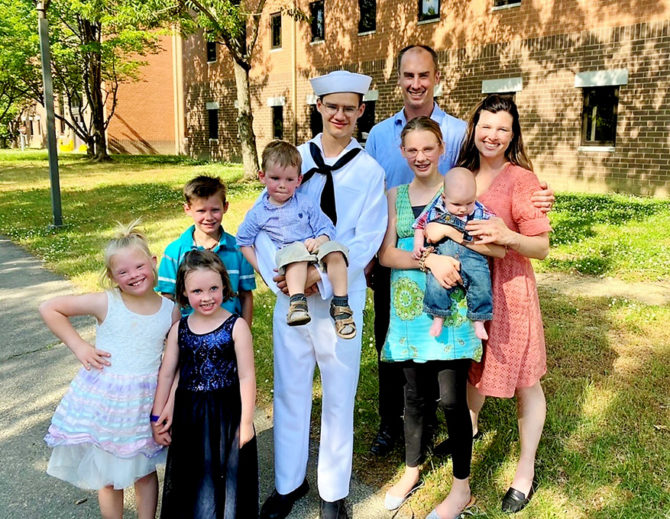 Liam Proudly Graduates from Sea Cadet Boot Camp