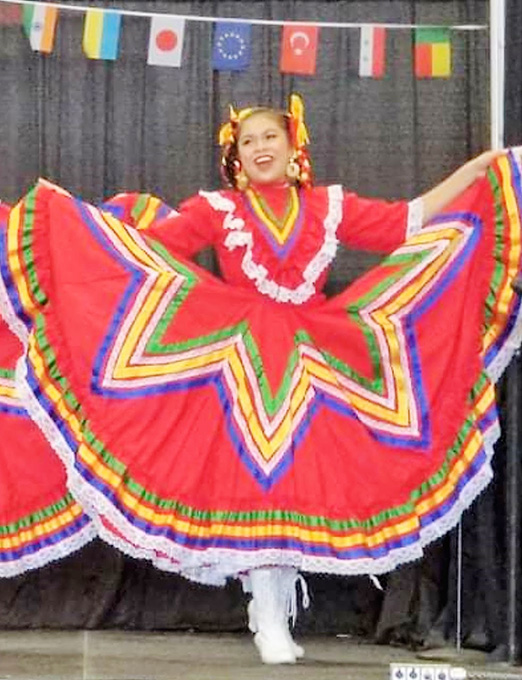 Citlalli Performs in Latin Heritage Dance Company