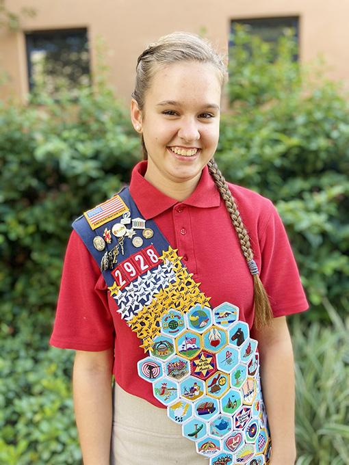 Homeschooling Helps Zoe Win Stars and Stripes Award