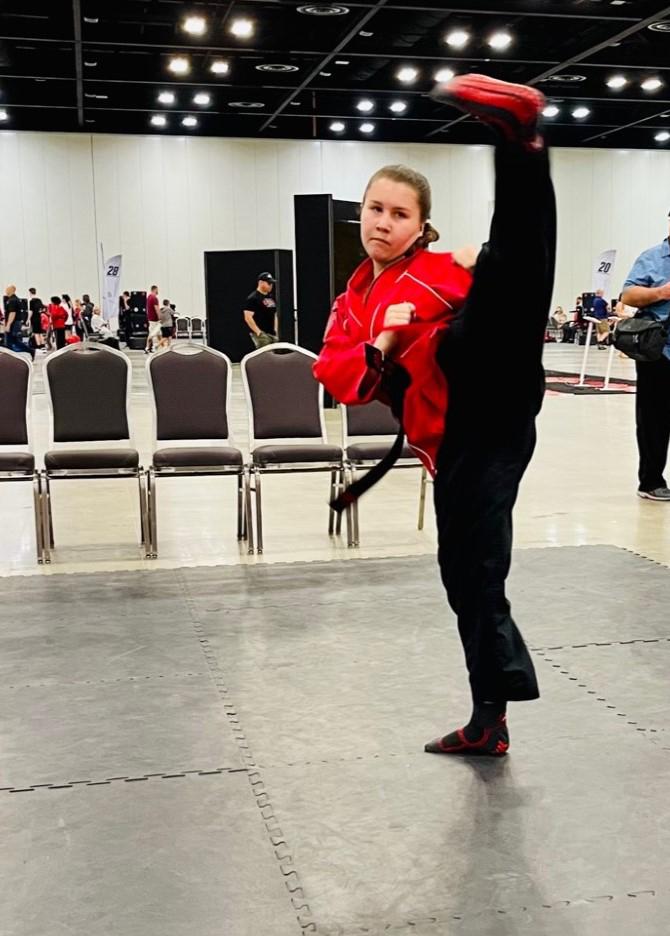 Rylee Earns 4th-degree Black Belt from Tiger Rock Taekwondo