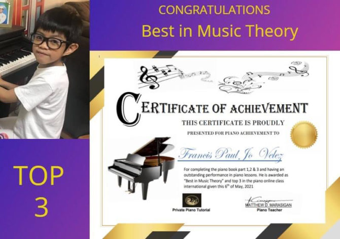 Francis Earns One of Top 3 Spots in Piano Competition